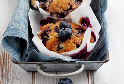 Superstar Streusel Blueberry Muffins