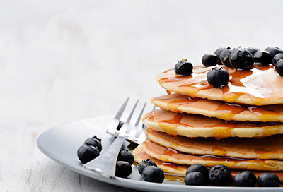 Zesty Lemon and Blueberry Pancakes