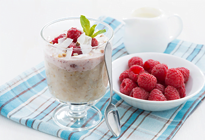 Raspberry Coconut Oatmeal