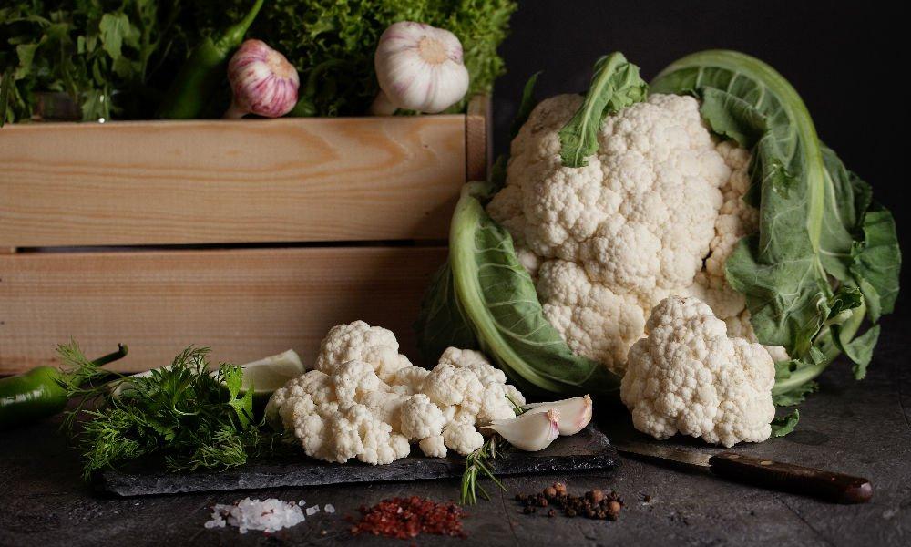 Garlic Crowned Cauliflower