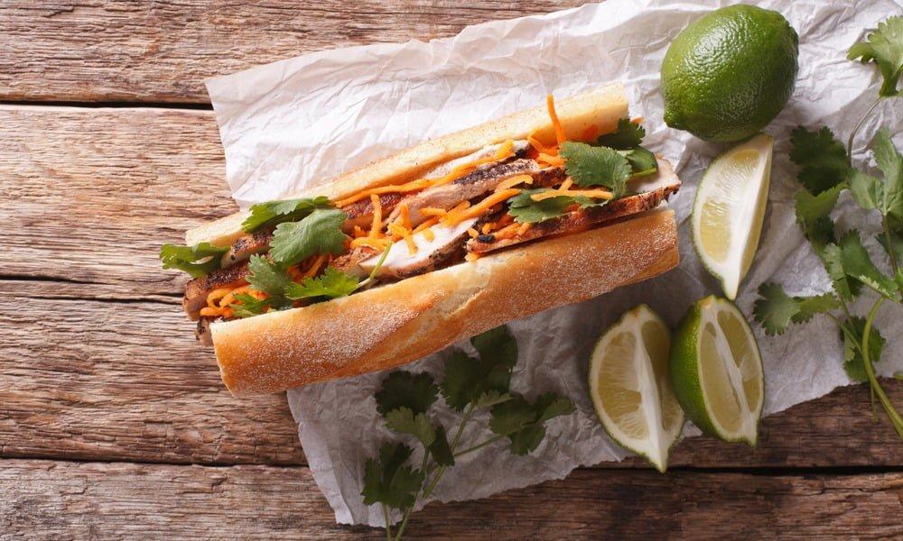 New Turkey Leftovers Banh Mi Sandwich